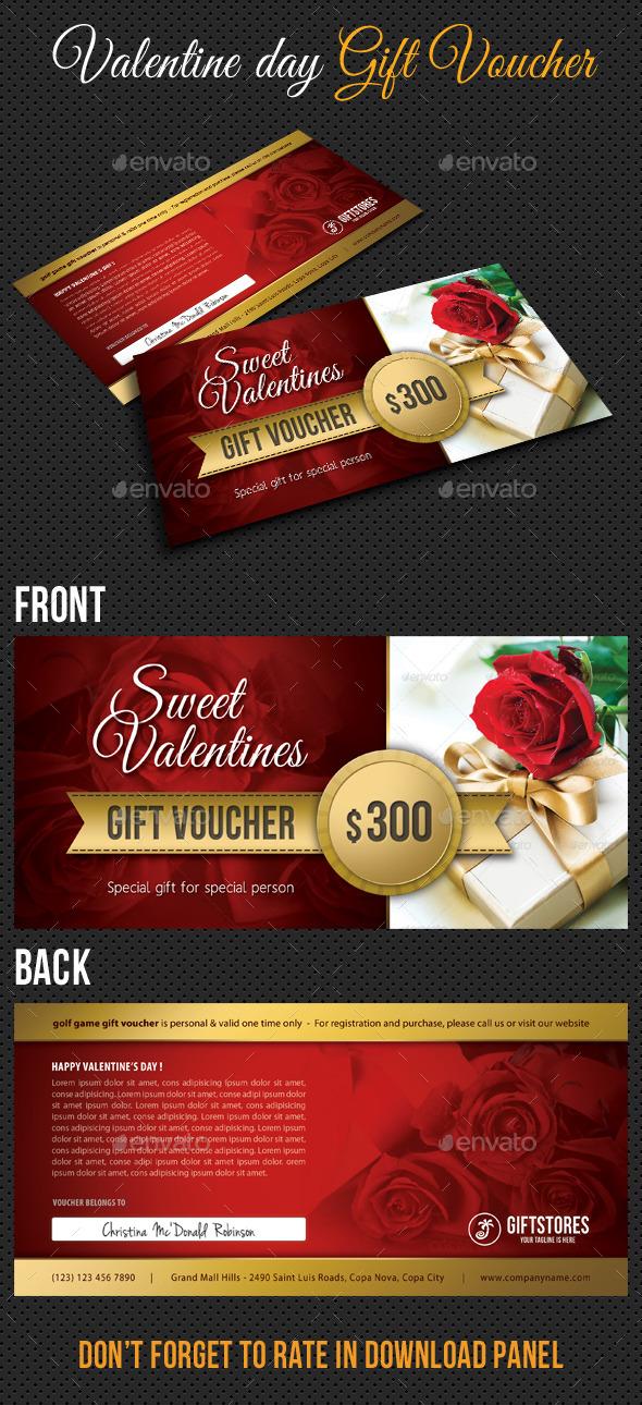 GraphicRiver Valentine Gift Voucher V03 10055700