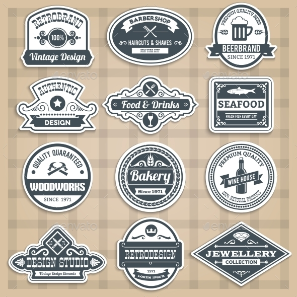GraphicRiver Retro Emblems Set 10055701