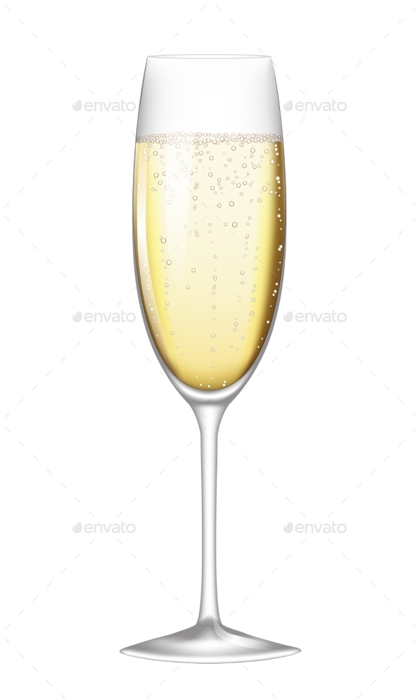 GraphicRiver Glass of Champagne 10055749
