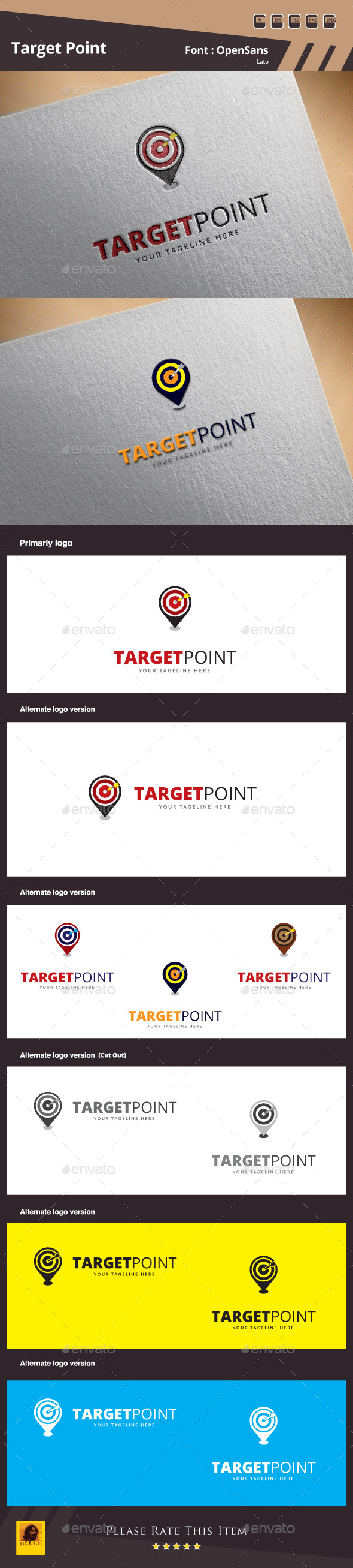 GraphicRiver Target Point Logo Template 10055858