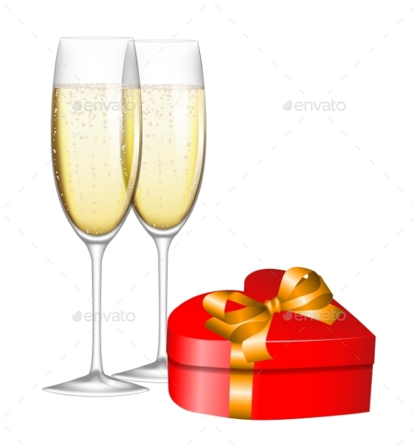 GraphicRiver Champagne and Gift 10055923