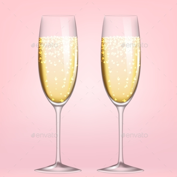 GraphicRiver Glasses of Champagne 10055940