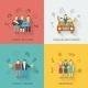 Friends Icons Flat Set - GraphicRiver Item for Sale