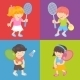 Kids Playing Tennis - GraphicRiver Item for Sale