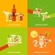 Alcohol Cocktails Icons Flat - GraphicRiver Item for Sale