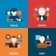 Crime and Punishments Flat Icons Composition - GraphicRiver Item for Sale