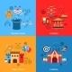 Amusements Park Flat Set - GraphicRiver Item for Sale