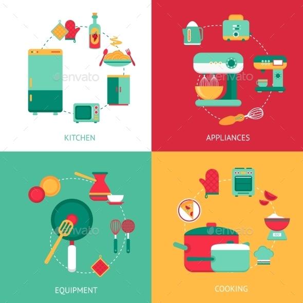 GraphicRiver Kitchen Design Concept 10056033