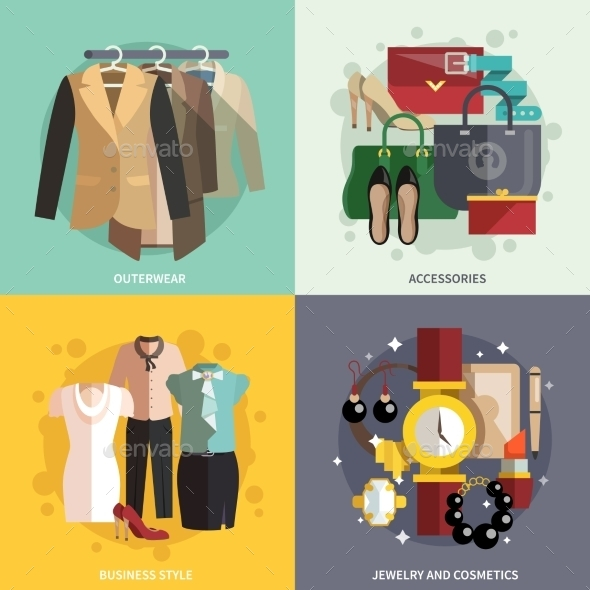 GraphicRiver Clothes Icons Flat 10056112