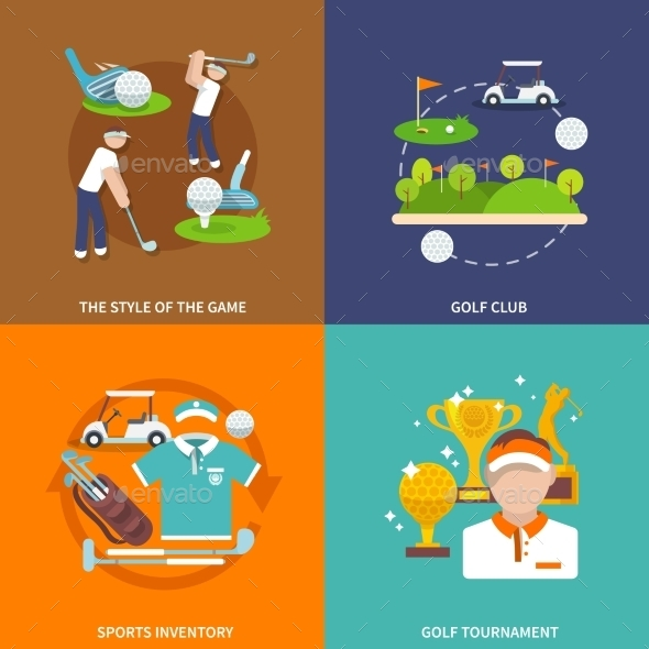 GraphicRiver Golf Flat Set 10056138