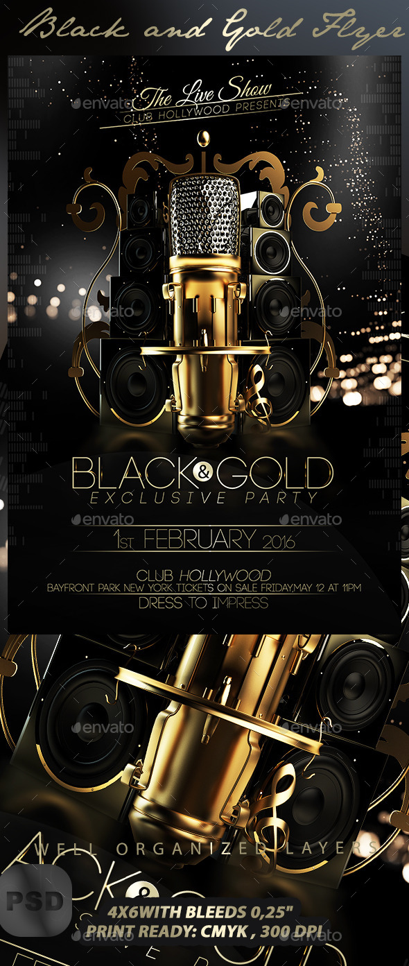 GraphicRiver Black and Gold Flyer Template 10056174