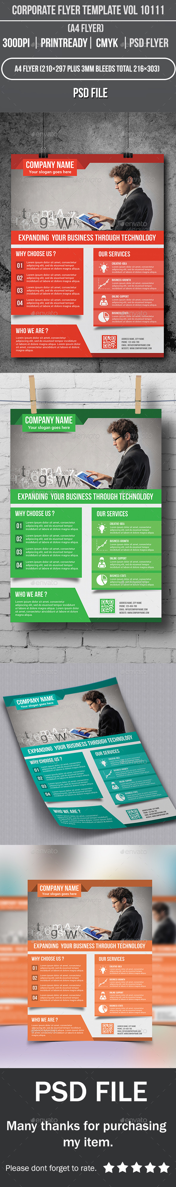 GraphicRiver Corporate Flyer Template Vol 10111 10056182