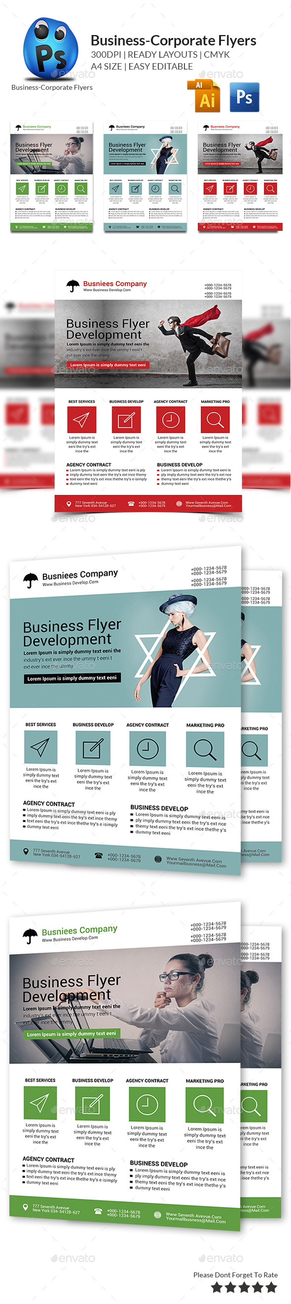 GraphicRiver Corporate Business Flyer Template 10056255