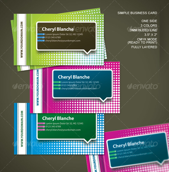 Simple One Side Business Card