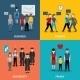 People Social Behavior Patterns - GraphicRiver Item for Sale