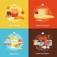 Bakery Flat Icons Set - GraphicRiver Item for Sale