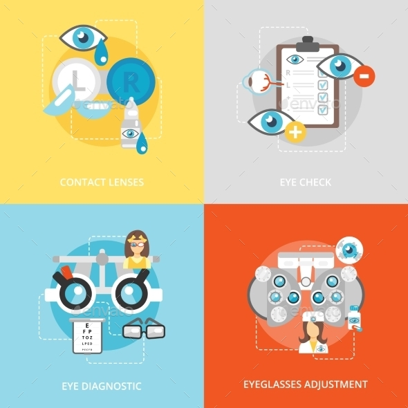 GraphicRiver Oculist Flat Icons 10057334