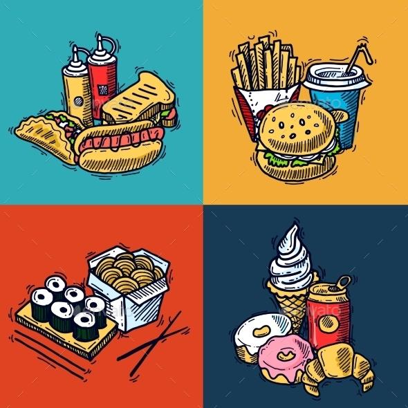 GraphicRiver Fast Food Design Concept 10057425
