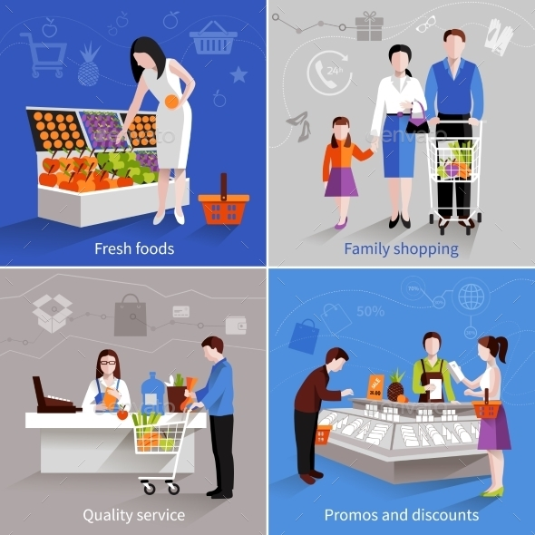GraphicRiver Supermarket People Set 10057464