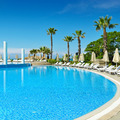 Outdoor swimming pool on the beach - PhotoDune Item for Sale
