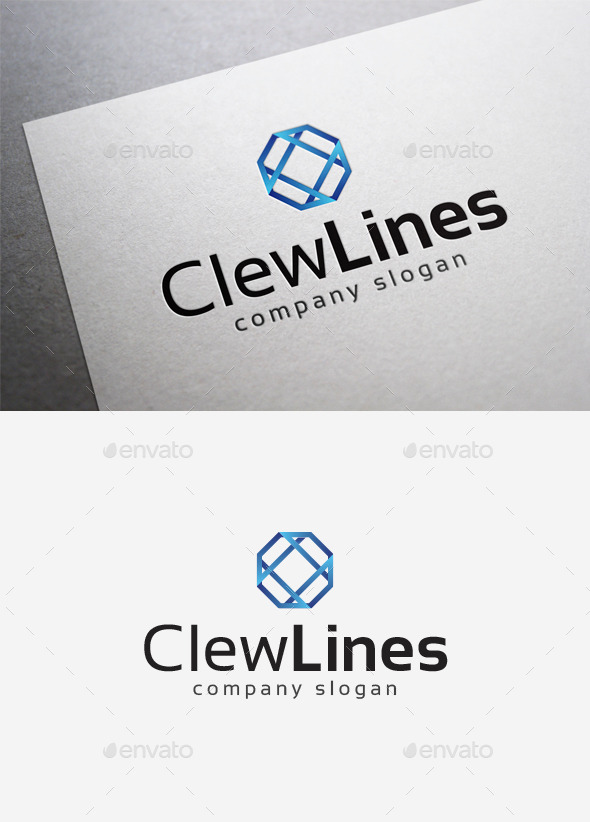 GraphicRiver Clew Lines Logo 10057856