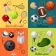 Sports 4 Flat Icons Composition - GraphicRiver Item for Sale