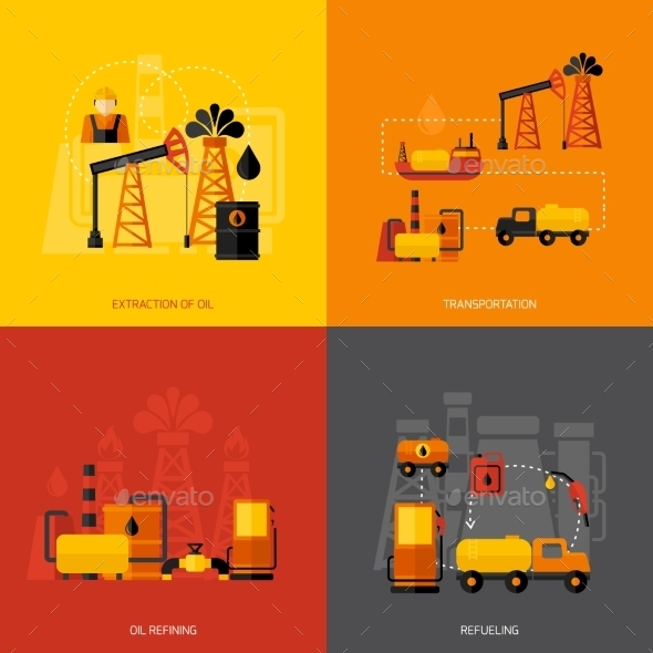 GraphicRiver Oil Industry Flat 10057891