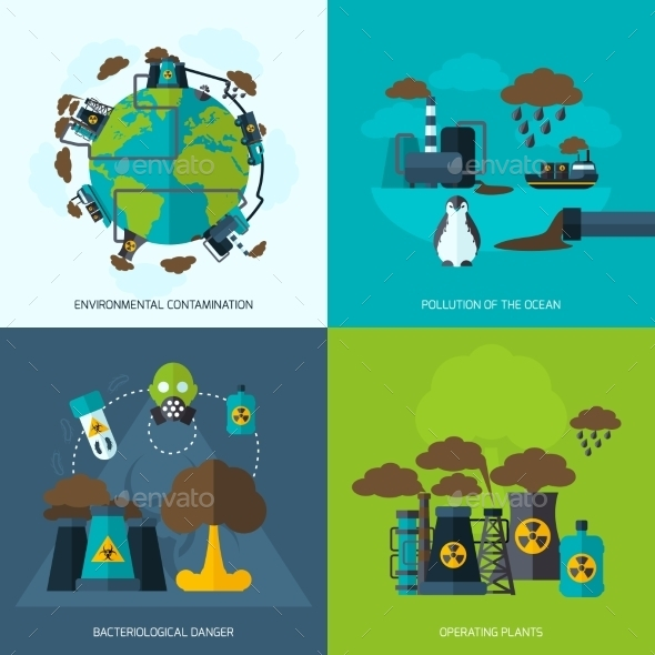 GraphicRiver Pollution Icons 10057893