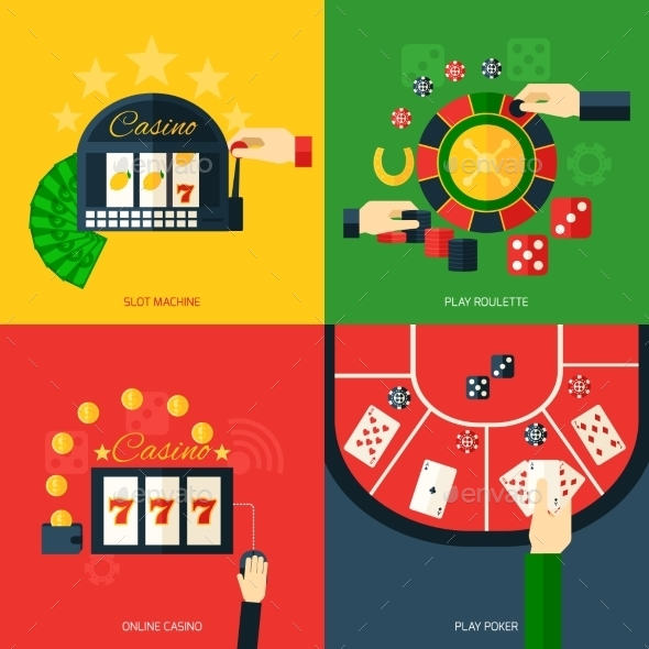GraphicRiver Casino Icon Flat 10057897