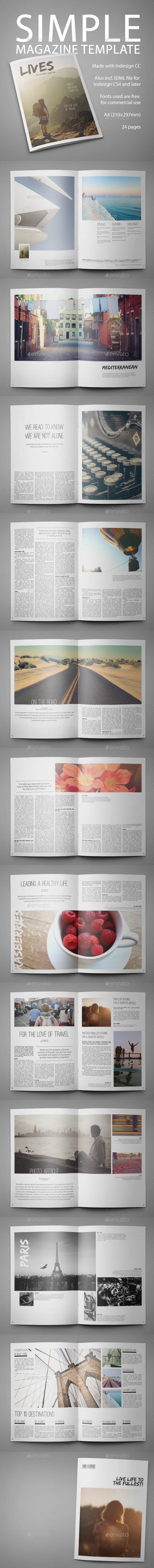 GraphicRiver Simple Multipurpose Magazine Template 10007527