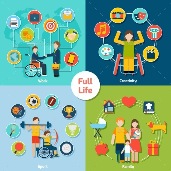 GraphicRiver Disabled Life Set 10057943