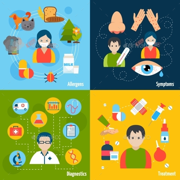 GraphicRiver Allergies Icons Set 10057953