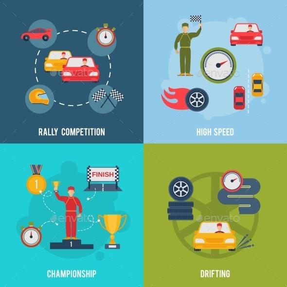 GraphicRiver Auto Sport Flat 10058025