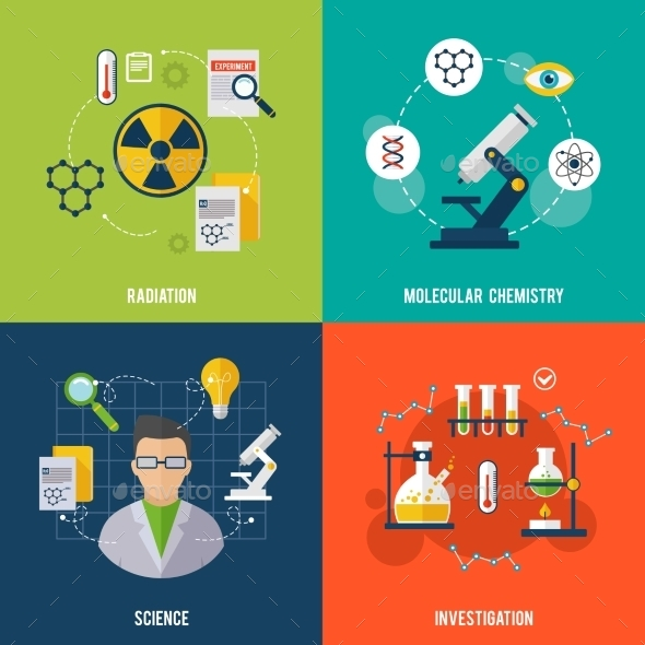 GraphicRiver Chemistry Flat Set 10058044