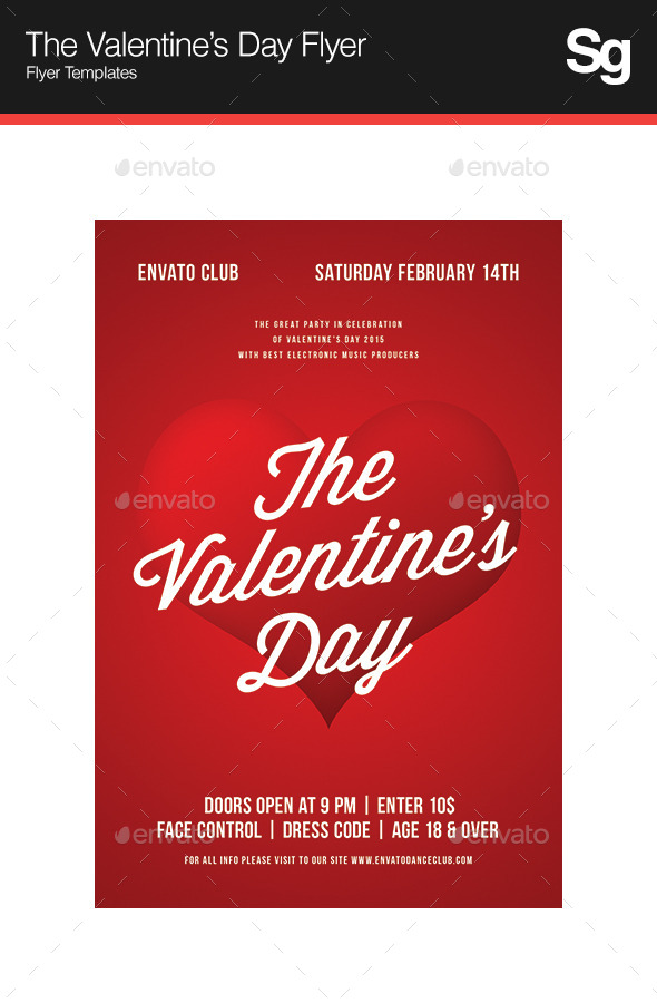 GraphicRiver The Valentine s Day Flyer 10058063