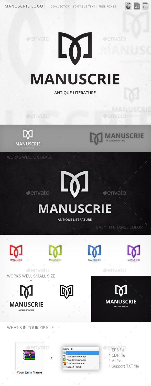GraphicRiver Manuscrie Logo 10058146