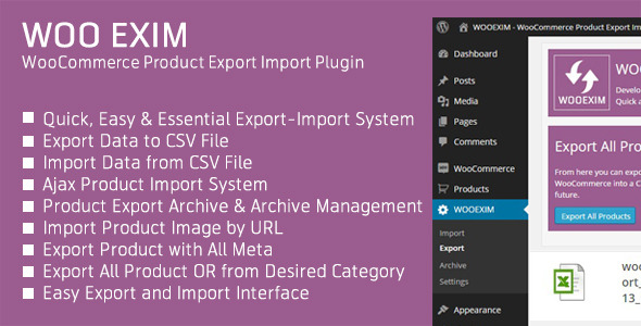 CodeCanyon WOOEXIM WooCommerce Product Export Import Plugin 10058191