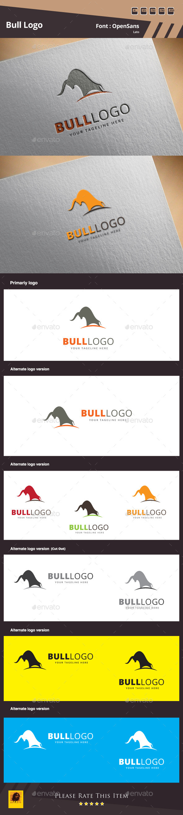 GraphicRiver Bull Logo Template 10058338