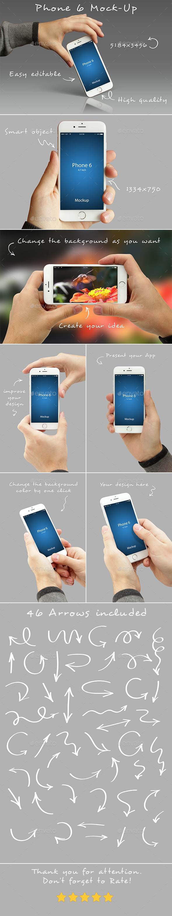 GraphicRiver Phone 6 Mockups 10058454