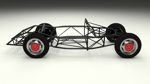 Mercedes 300SL Chassis - 3DOcean Item for Sale