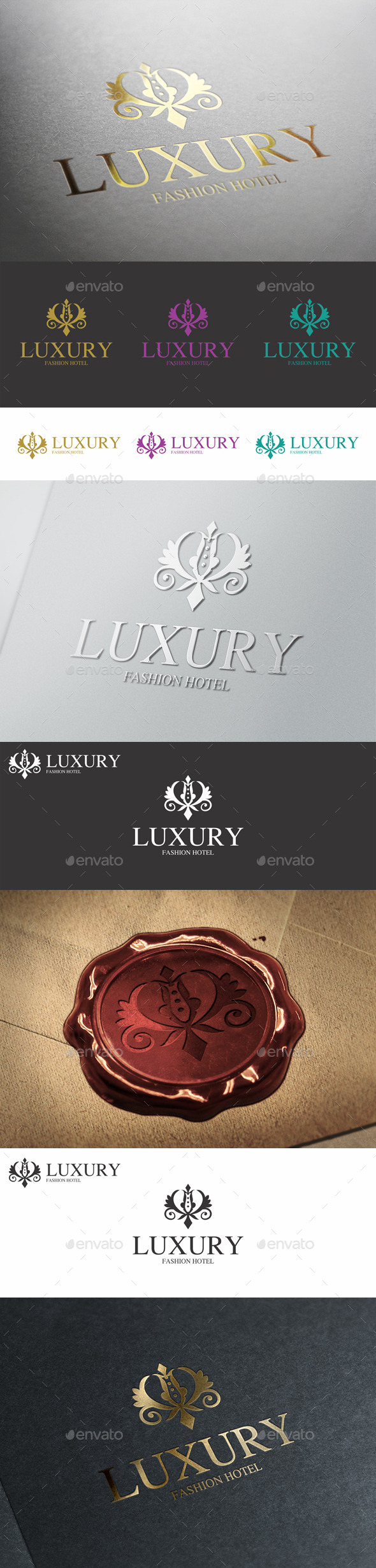 GraphicRiver Luxury Boutique Hotel Monogram Logo 10058487