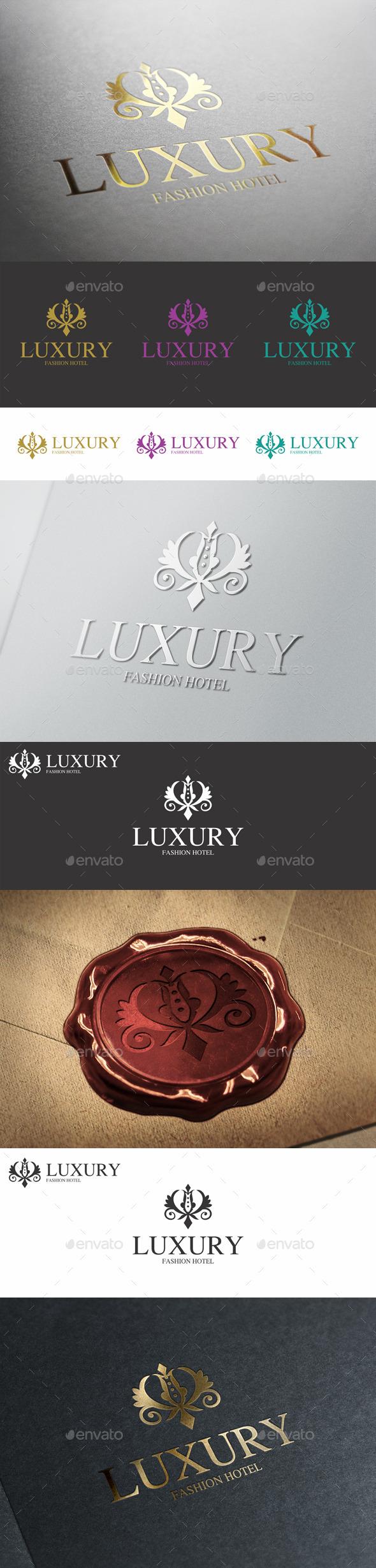 GraphicRiver Luxury Boutique Hotel Monogram Logo 10058487