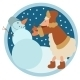 Sheep and Snowman - GraphicRiver Item for Sale