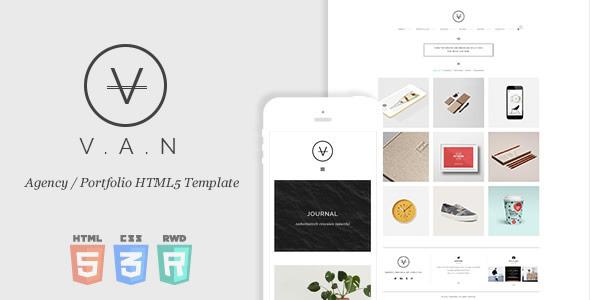 ThemeForest VAN Minimal Agency Portfolio HTML5 Template 10058736