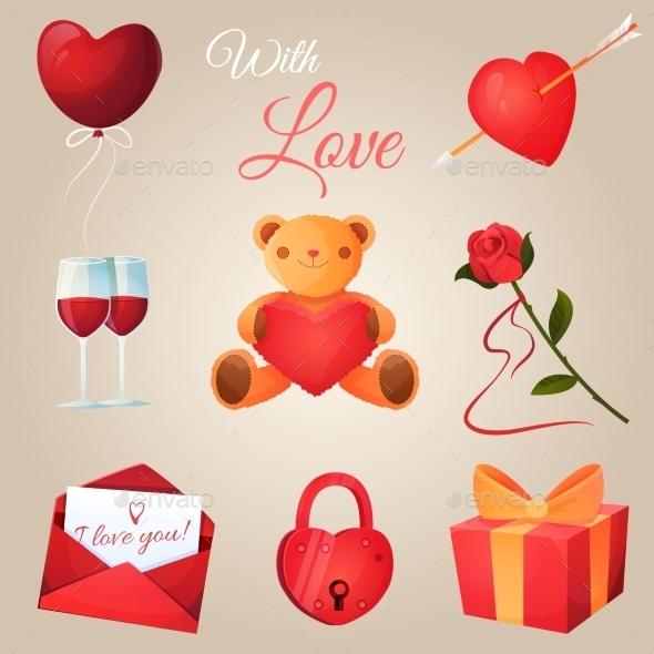 GraphicRiver Valentine s Day Icons Set 10059185