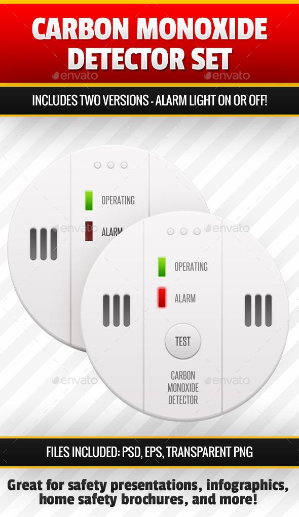 GraphicRiver Carbon Monoxide Detector Image Set 10059186