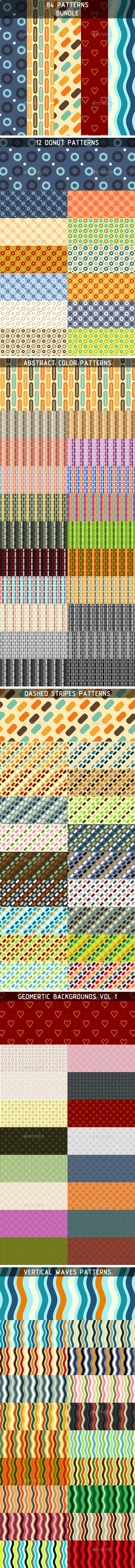 GraphicRiver 84 Patterns Bundle 10036435