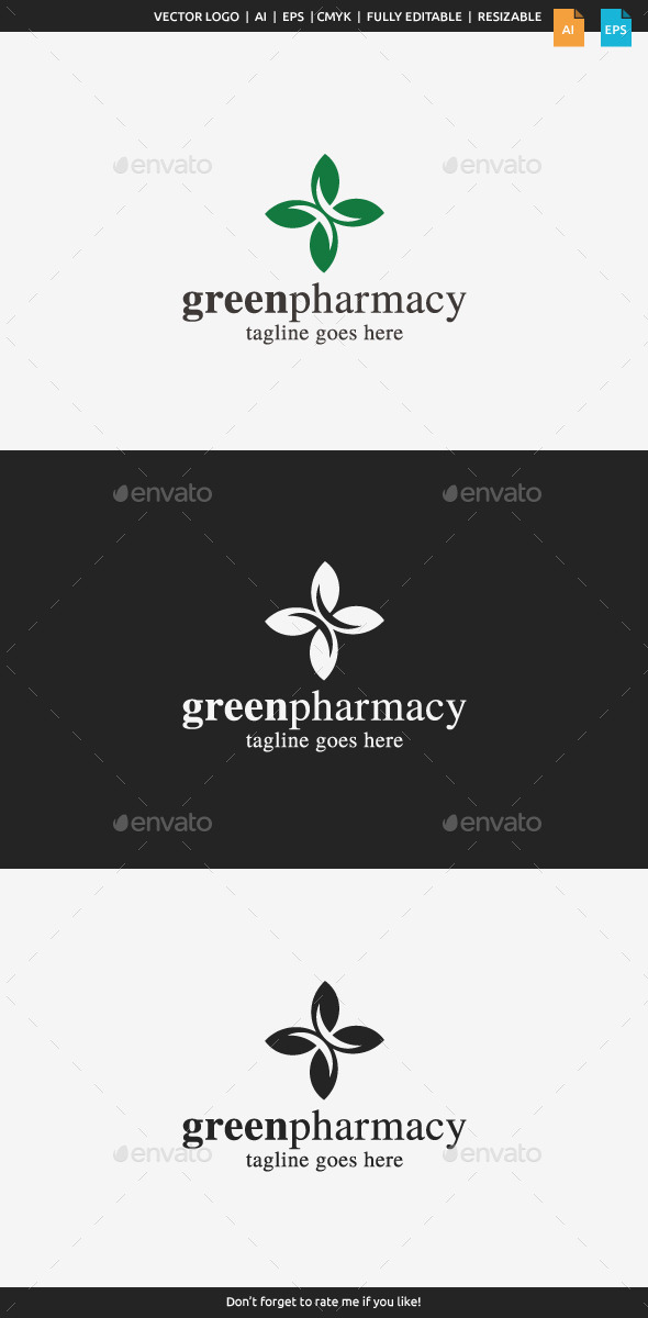 GraphicRiver Green Pharmacy Logo 10059279