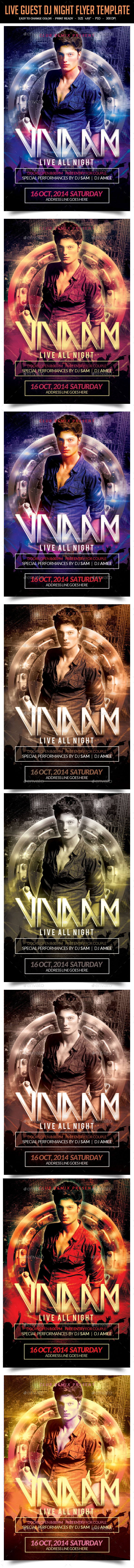 GraphicRiver Live Guest Dj Night Flyer Template 10034531