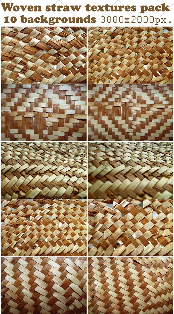 Woven straw textures pack - Miscellaneous Textures
